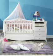 Beşik, Uzun Beşik, Lilyum Bebek Odası ( 70*140 ) Sabit Uzun Beşik