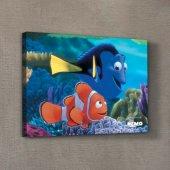 Nemo & Dory 1 50x70 Cm Kanvas Tablo