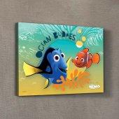 Nemo & Dory 2 50x70 Cm Kanvas Tablo