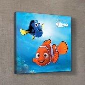 Nemo & Dory 3 40x40 Cm Kanvas Tablo