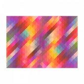 Colorful Triangles 178x126 cm Duvar Resmi-2