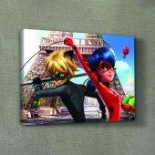 Mucizevi Uğurböceği Ve Karakedi 50x70 Kanvas Tablo, Çocuk Odası D