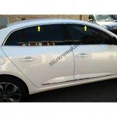 Renault Megane 4 Sedan Krom Cam Üst Çıtası Aksesuarı 6 Parça
