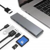 Ucouso Usb-cx2 Hdmı 4K Usb 3.0 Şarj Msd Typ-c Hub MacBook Aparat A1706 A1708 A1707 A1989 A1990 1302