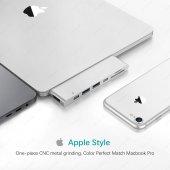 Ucouso Usb-cx2 Hdmı 4K Usb 3.0 Şarj Msd Typ-c Hub MacBook Aparat A1706 A1708 A1707 A1989 A1990 1302-8