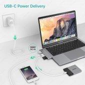 Ucouso Usb-cx2 Hdmı 4K Usb 3.0 Şarj Msd Typ-c Hub MacBook Aparat A1706 A1708 A1707 A1989 A1990 1302-9