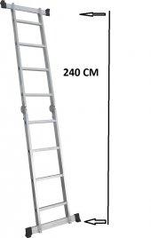 4+4 Çok Amaçlı Alüminyum Katlanır Merdiven