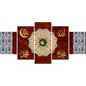 5 Parça Osmanlı Tuğra Temalı Kanvas Tablo (Model-6)-5