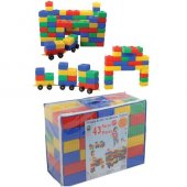 Pilsan Tuğla Blok Ve Araba Seti 43 Parça Lego Eğitici Oyun-3