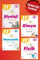 11.sınıf Biyoloji Kimya Matematik Fizik Soru Bankası Seti Palme Kitabevi