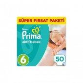 Prima Pampers Aktif Bebek 6 Numara 50 Ad. 13 18...