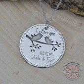 Plaka İsim Kolye İsimli Kolye Gümüş Kolye Kişiye Özel Gümüş Kolye-5