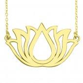 Lotus Kolye. Gümüş Lotus Çiçeği Kolyesi. Yoga Kolyesi