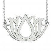 Lotus Kolye. Gümüş Lotus Çiçeği Kolyesi. Yoga Kolyesi-3