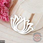 Lotus Kolye. Gümüş Lotus Çiçeği Kolyesi. Yoga Kolyesi-4