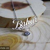 İsimli Koye Nazar boncuklu isim kolye Gümüş Kolye-4