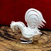 925 Ayar gümüş Telkari EL İşçiliği Horoz Modeli