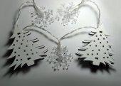 Dekoratif Minyatür Çam Ağacı Kar Tanesi Dizili Pilli İp Led -4