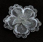 Çiçek Model Gümüş Bayan Telkari Broş