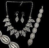 925 Asur Model Telkari El İşçiliği Gümüş Bayan Üçlü Set