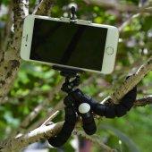 Ahtapot Selfie Tripod Cep Telefon Tutucu Akrobat Stand 28 Cm-4
