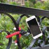 Ahtapot Selfie Tripod Cep Telefon Tutucu Akrobat Stand 28 Cm-5