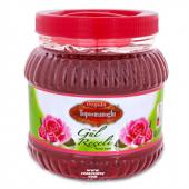 Kırmızı Renkli Gül Reçeli Pvc Kavanoz 1400 Gr Net