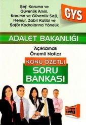 Yargı Yayınları 2015 Gys Adalet Bakanlığı Şef, Koruma Ve Güvenlik Amiri İçin Konu Özetli Soru Bankası