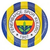 Fenerbahçe 8li Tabak Doğum Günü Parti Tabağı 23cm Ucuz Sarı Laciv