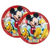 8 Adet Mickey Mouse Doğum Günü Parti Masası Tabağı-2
