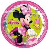 8 Adet Minnie Mouse Doğum Günü Plastik Parti Tabağı-2