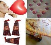 Romantik Sürpriz Gül Yapraklı Süsleme 1000 Gül+20 balon+20 mum-2