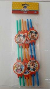 Mickey Mouse 6lı Pipet Doğum Günü Parti Pipeti Konsept Parti Ucuz-3