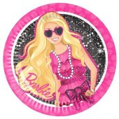 Barbie 8 adet Tabak 23cm Doğum Günü Partisi Tabağı Ucuz
