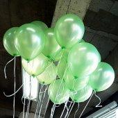 50 Adet Metalik Sedefli Yeşil,açık Yeşil Balon Helyumla Uçan
