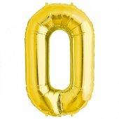 Rakam Folyo Balon 0 Rakamı Büyük Boy Balon Altın Sarısı Dore 100