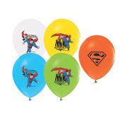 48 ADET SUPER MAN BASKILI KARIŞIK BALON Süper Men, Superman,