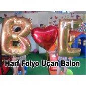 Altın Sarısı Baş Harf Balon Set Evlilik Teklifi