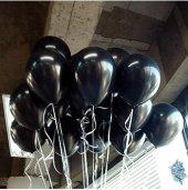 50 Adet Siyah Balon Baskısız Dekorasyon 12İNÇ-2