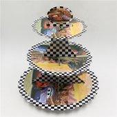 Cars Cupcake Stand 3 Katlı Doğum Günü Kek Standı-2