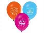 İyi Ki Doğdun Yazılı 16lı Balon Doğum Günü Partisi, Baskılı Balon