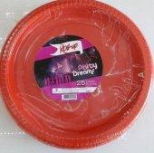 25 Adet Kırmızı Kullan At Plastik Doğum Günü Parti Tabağı