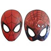 6 Adet Örümcek Adam (Spiderman) Kırmızı Karton Maske