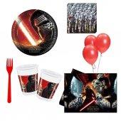 Star wars 8 Kişilik 6 Parça Doğum Günü Seti malzemeleri yıldız sa-6