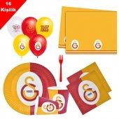 Galatasaray 16 Kişilik 8 Parça Doğum Günü Seti malzemeleri süsler-5