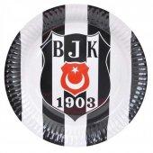 Beşiktaş 8 Kişilik 6 Parça Doğum Günü Seti malzemeleri süsleri-10