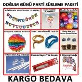Mavi Erkek Doğum Günü Parti Malzeme Paketi+20 Karışık Balon 14 Pa