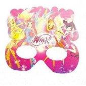 6 Adet Winx (Winks) Karton Gözlük Kız Doğum Günü Parti Malzemesi