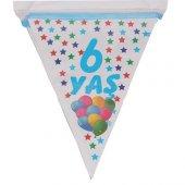 1 Adet 6 Yaş Bayrak Flama Mavi Erkek 2. 2 Metre Doğum Günü-2