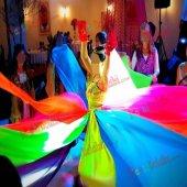 1 Adet Rengarenk 8 Farklı Renkli Kına Eteği 256cm x 65cm Kına Mal-3